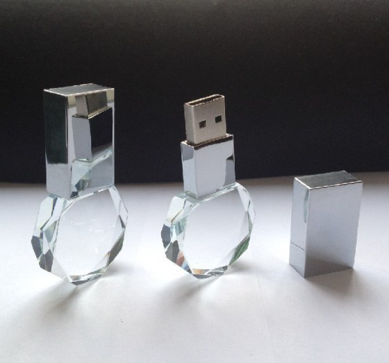Beautiful polygon crystal usb pendrives usb 2